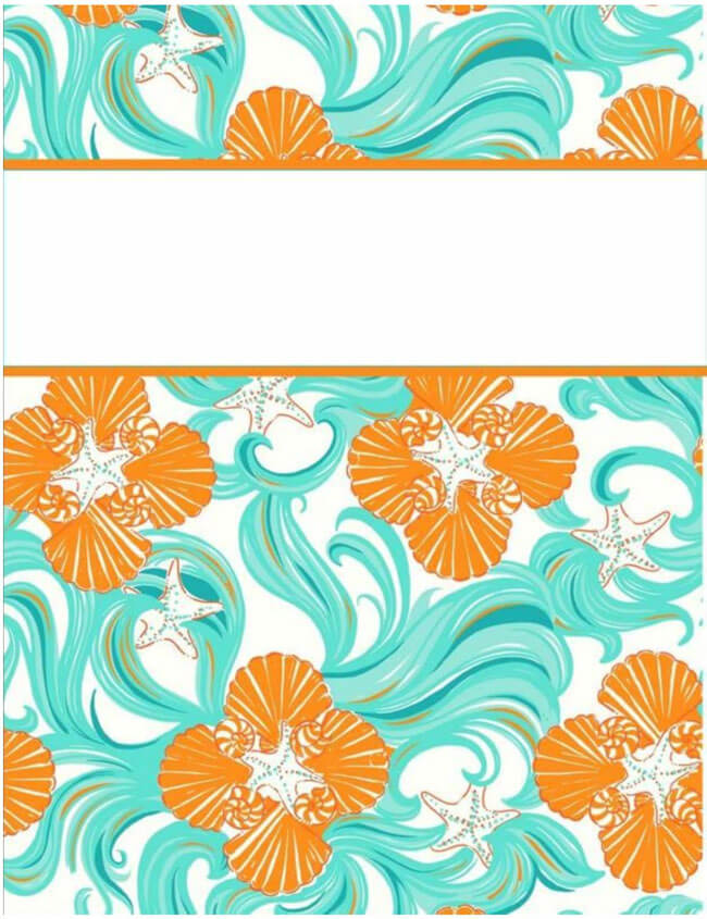 Binder Cover Template 01