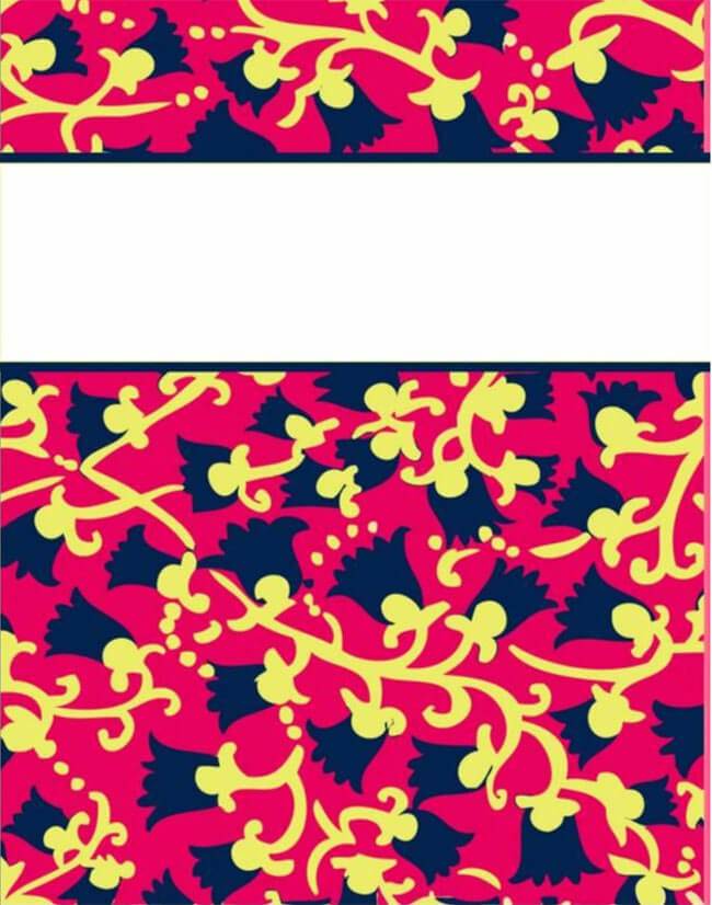 Binder Cover Template 02
