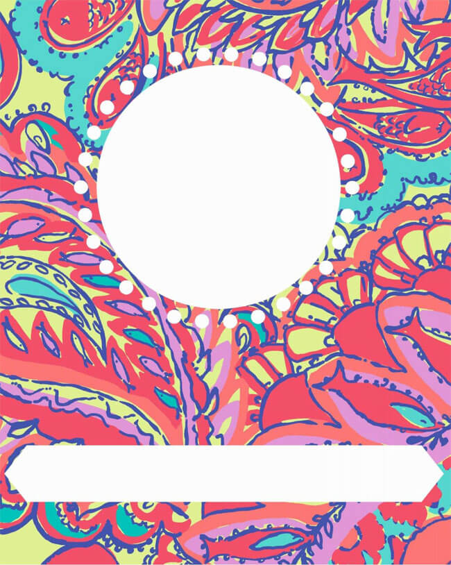 Binder Cover Template 03