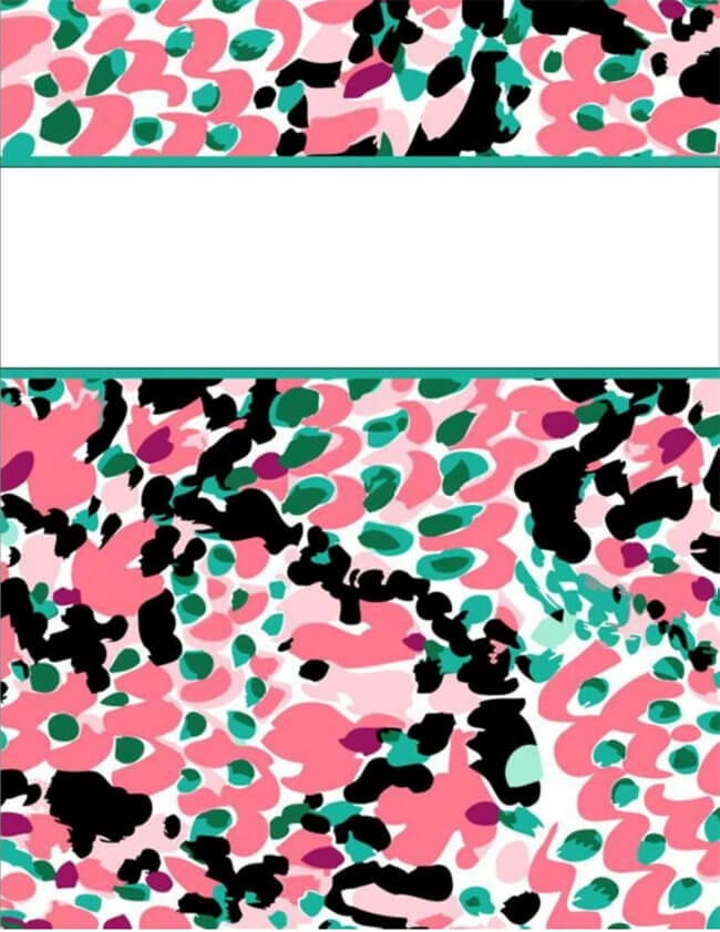 Binder Cover Template 10