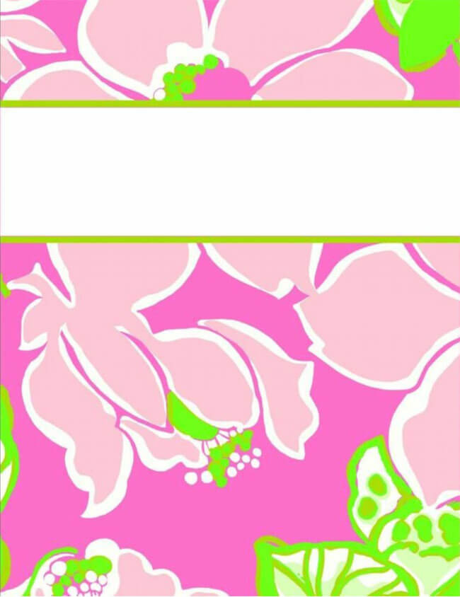 Binder Cover Template 12