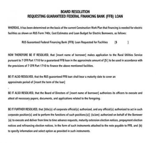 nonprofit board resolution template
