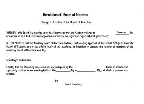 board resolution indicating the name of the authorized representative 01