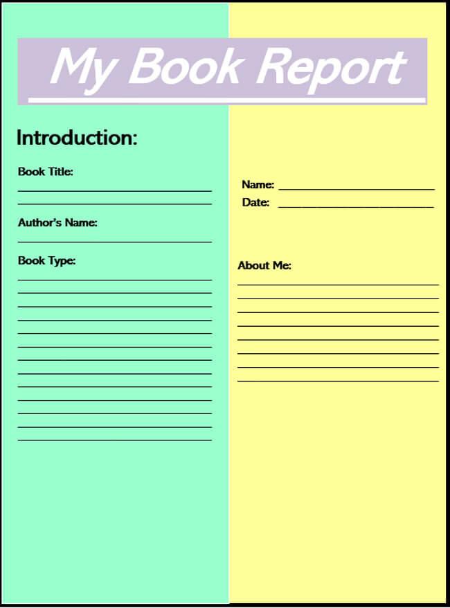 Book Report Template 04