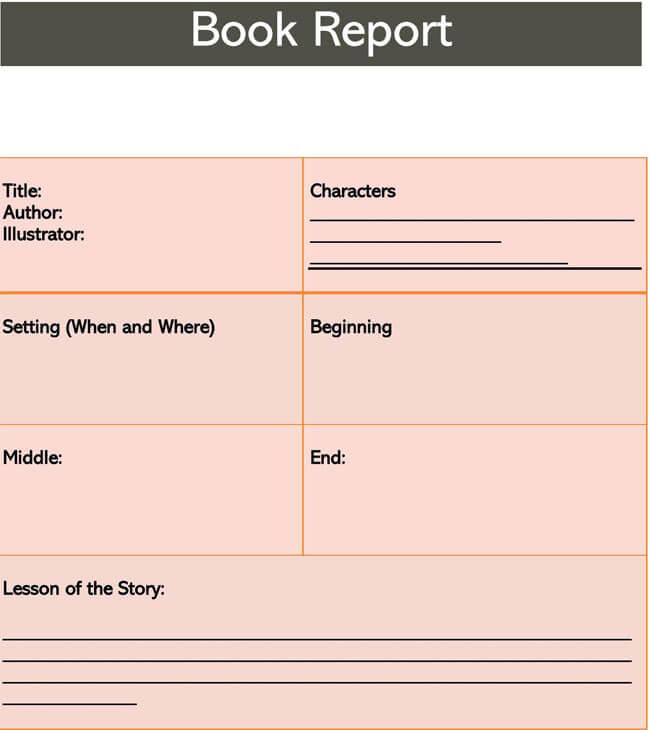 Book Report Template 07