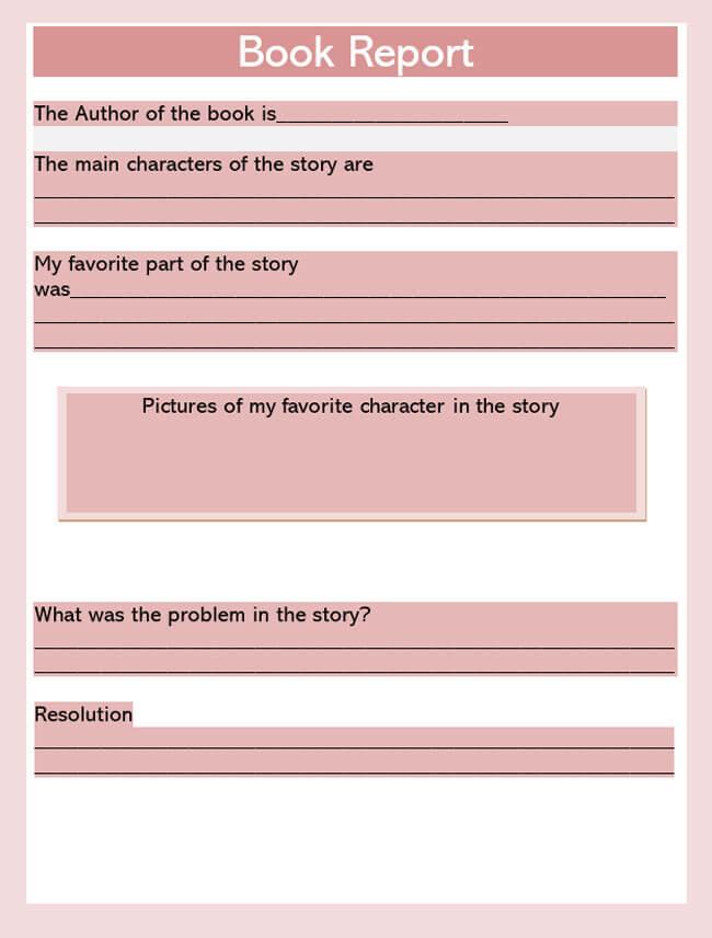 Book Report Template 17