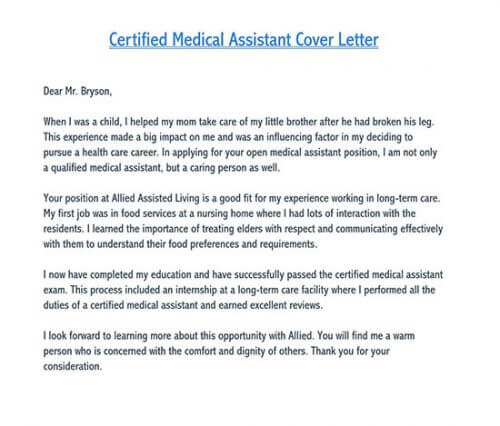 Cover Letter For Medical Jobs Samples Examples