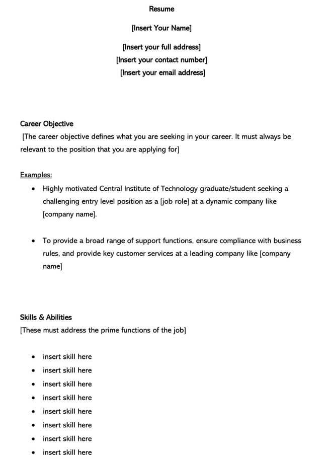 Customer Service Resume Template 14