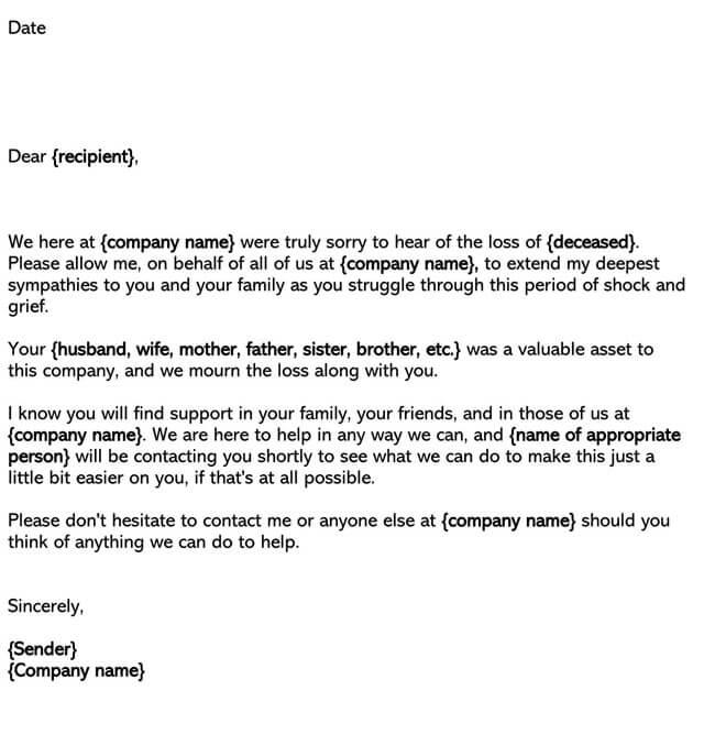 Death Sympathy Letter 02