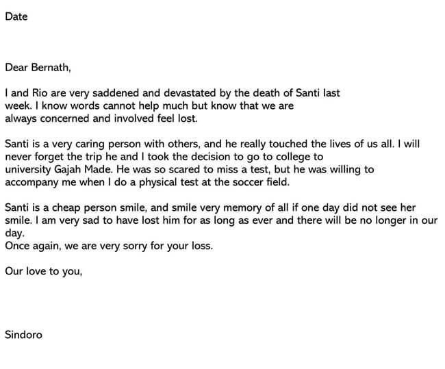 Death Sympathy Letter 04