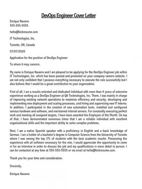Cover Letter For Engineering Job Samples Examples Word Pdf