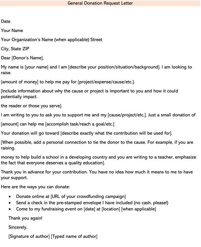 Fundraising Letter for General Donations 02