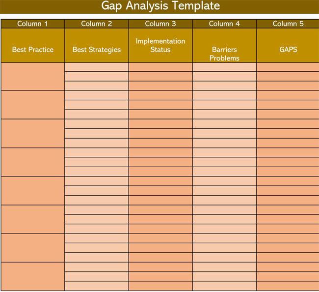 Gap Analysis Template 07