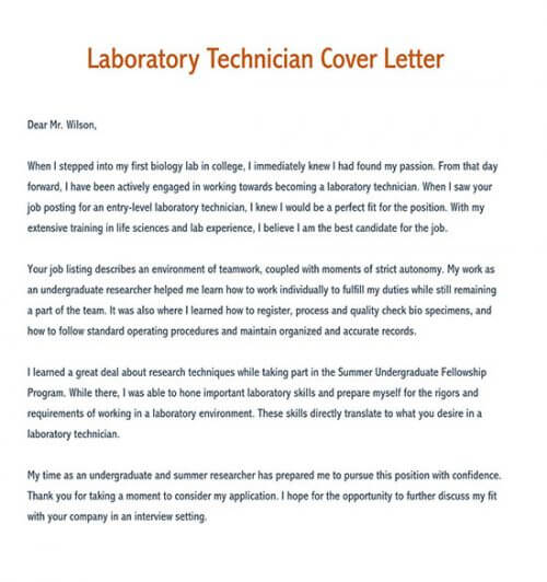 maintenance technician cover letter sample