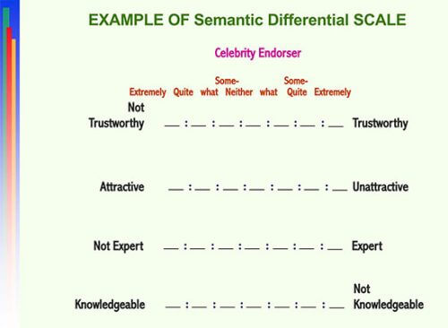semantic differential scale word template