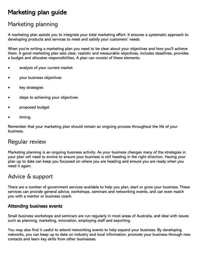 Marketing Plan Template 01