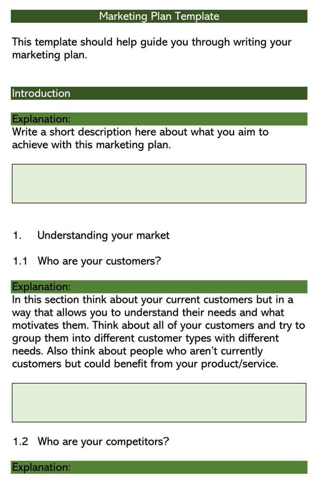 Marketing Plan Template 04