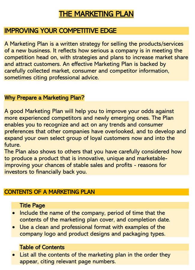 Marketing Plan Template 05