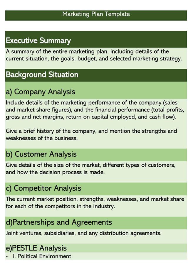 Marketing Plan Template 07