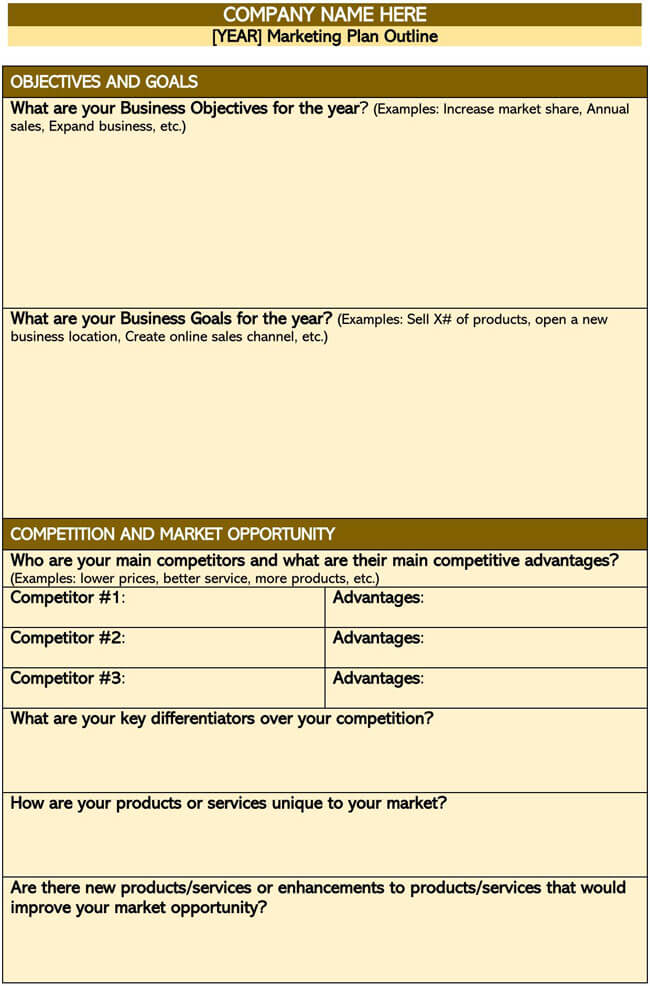 Marketing Plan Template 09
