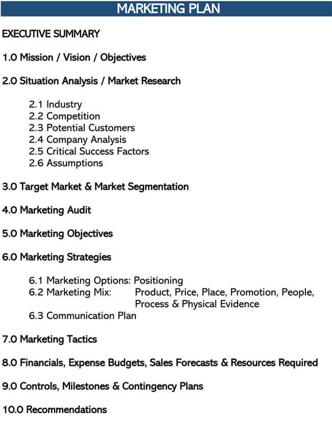 Marketing Plan Template 10