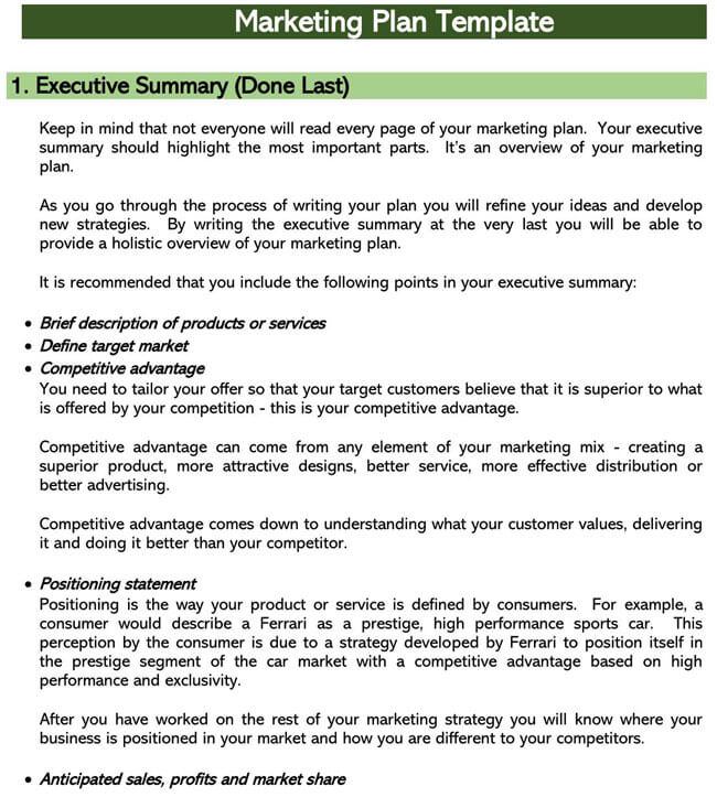 Marketing Plan Template 11