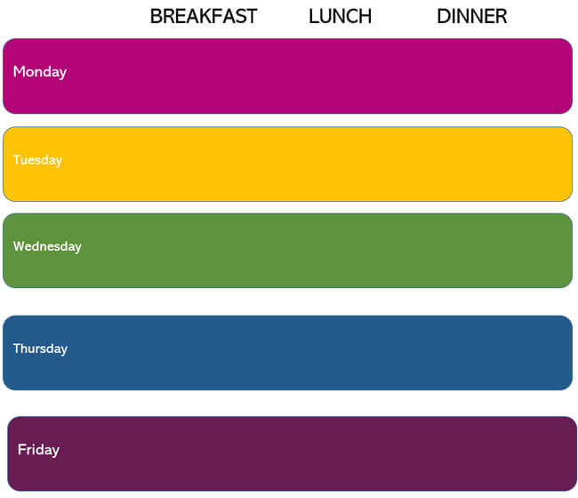 Meal Plan Word Template 11