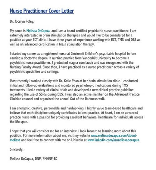 sample application letter for nurses fresh graduate