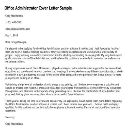 application letter for office staff fresh graduate