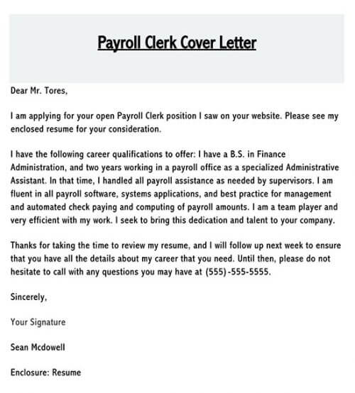 application letter for clerk position in a school with no experience