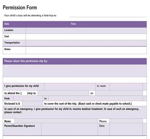 permission form pdf
