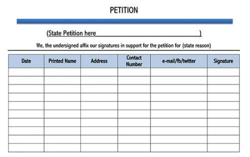 petition template google docs 01