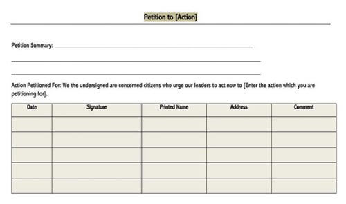 school petition template 01