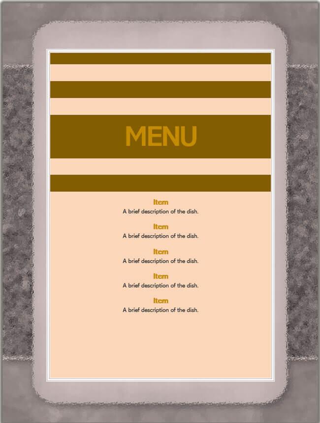 Restaurant Menu Template 10