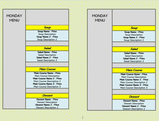 Restaurant Menu Template 12