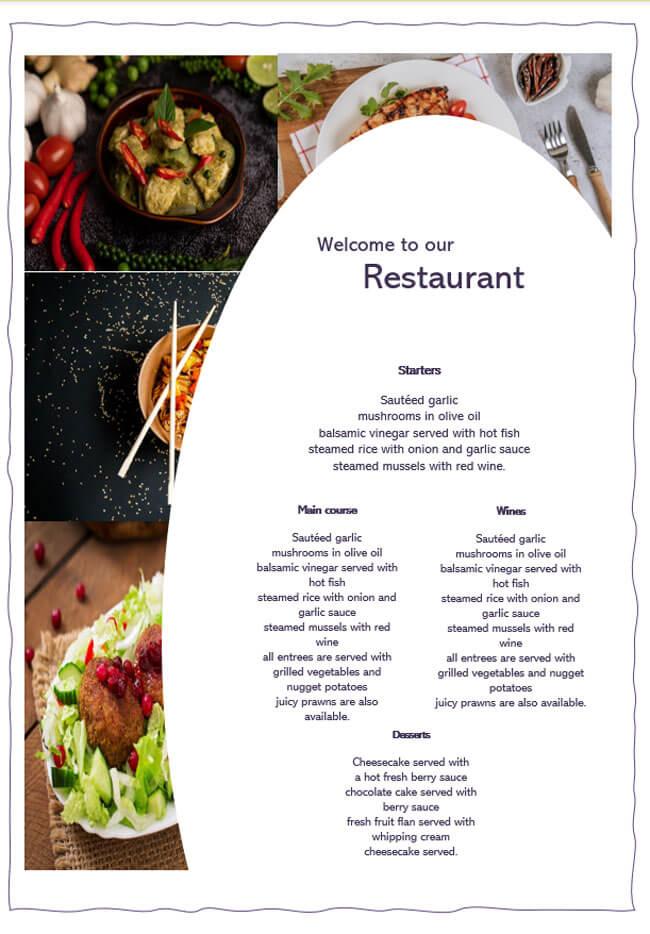 Restaurant Menu Template 14