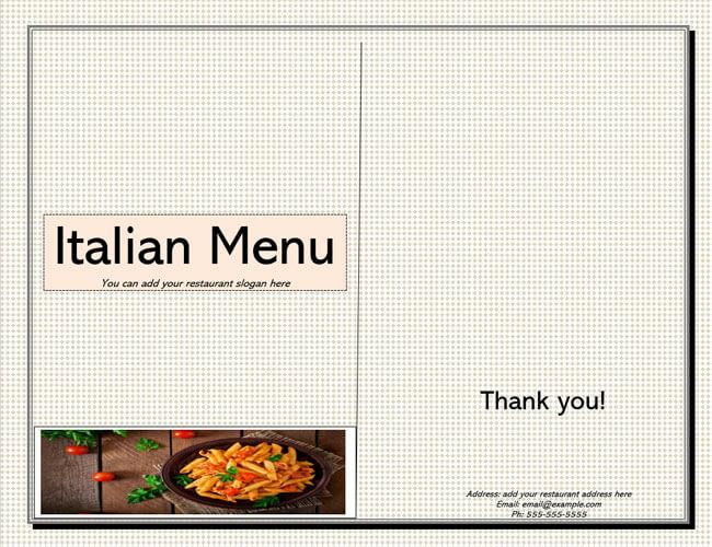Restaurant Menu Template 19