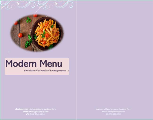 Restaurant Menu Template 06