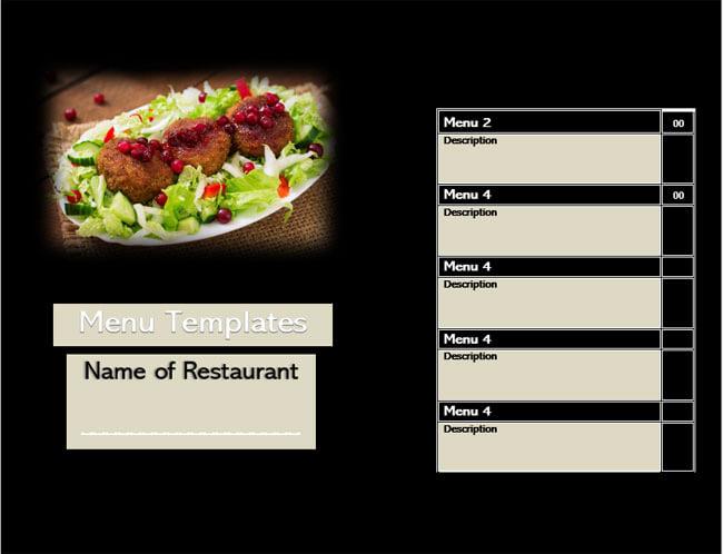 Restaurant Menu Templates 04