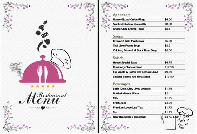 Restaurant Menu Templates 05