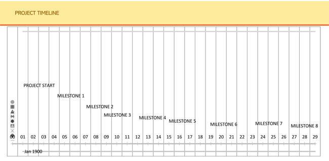 Timeline Excel Template 01