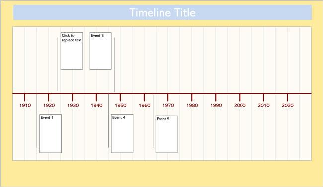 Timeline Excel Template 02