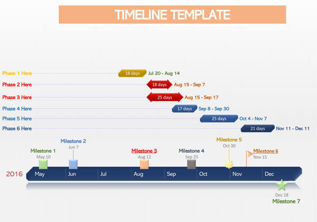 Timeline PowerPoint Template 03
