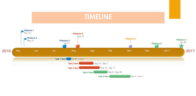 Timeline PowerPoint Template 06