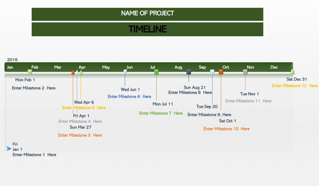 Timeline PowerPoint Template 07