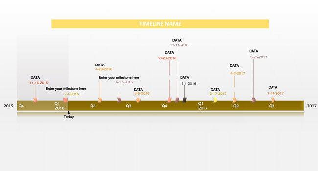 Timeline PowerPoint Template 10