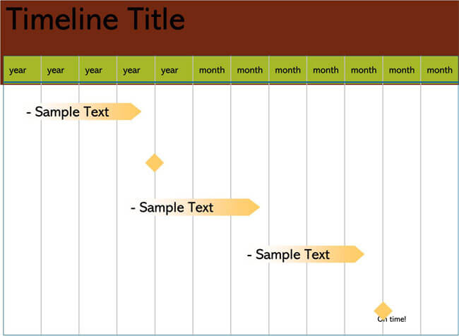 Timeline PowerPoint Template 18