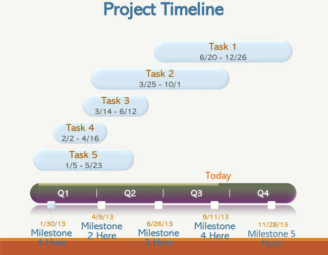Timeline PowerPoint Template 22