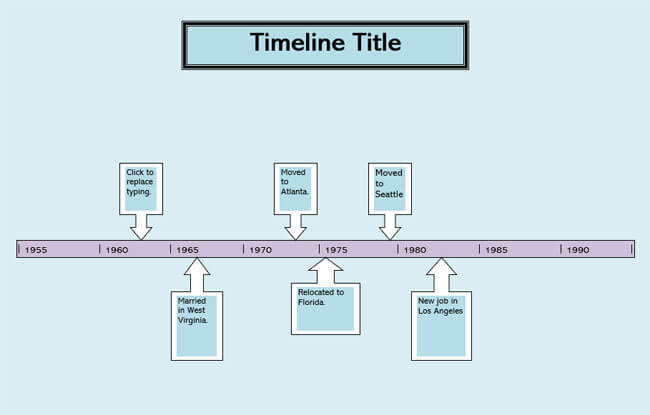 Timeline Word Template 01