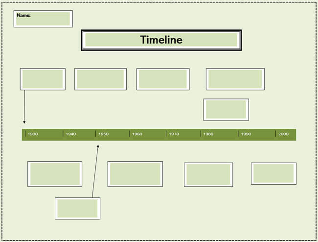 Timeline Word Template 02